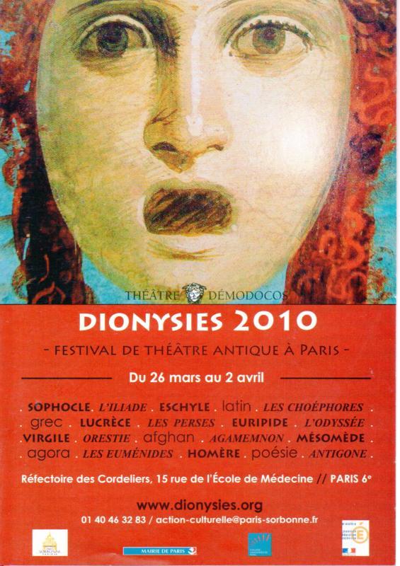 Flyer Dionysies 2010