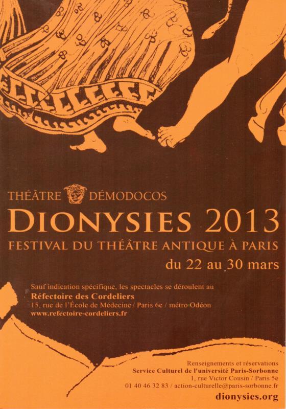 Flyer Dionysies 2013